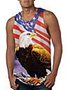 Men\'s Tank Top Vest Undershirt Other Prints Eagle 3D Print Sleeveless Daily Tops Casual Beach Rainbow