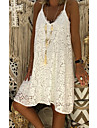 Women\'s Strap Dress Knee Length Dress Blushing Pink White Black Red Sleeveless Solid Color Lace Summer V Neck Casual 2021 S M L XL XXL 3XL 4XL 5XL