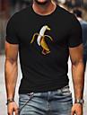 男性用 男女兼用 Tシャツ シャツ 熱間鍛造 バナナ 動物 プラスサイズ プリント 半袖 カジュアル トップの コットン100% カジュアル ファッション デザイナー 大きくて背が高い ラウンドネック レッド / ホワイト ホワイト+オレンジ ホワイト / 夏