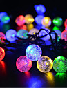 Solar Ball String Lights Outdoor Waterpoof 6.5m Lighting 30 LEDs White Multi Color Christmas New Year's Outdoor Indoor Holiday Solar Powered