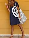 Women\'s T Shirt Dress Tee Dress Short Mini Dress Blue Short Sleeve Print Print Spring Summer V Neck Chic & Modern Casual Loose 2021 S M L XL XXL