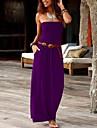 Women\'s Sheath Dress Maxi long Dress Blue Purple Blushing Pink Wine Gray Green Black Red Light Green Navy Blue Sleeveless Print Solid Color Summer Strapless Casual 2021 S M L XL XXL