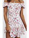 Women\'s A Line Dress Short Mini Dress White Short Sleeve Print Summer Elegant 2021 S M L XL
