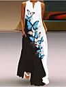Women's Shift Dress Maxi long Dress Sleeveless Floral / Botanical Animal Print Spring Summer V Neck Classic & Timeless 2021 S M L XL XXL 3XL 4XL 5XL
