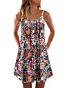 Women\'s Strap Dress Short Mini Dress Sleeveless Floral Print Print Spring Summer Boat Neck Casual / Daily Holiday 2021 XS S M L XL XXL XXXL 4XL 5XL 6XL