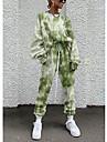 Dámské Šik ven Sevřený Batikované Jdeme ven Běžné / Denní Dvoudílná sada Mikina Tepláková souprava Kalhoty Společenské oblečení Běžecké kalhoty Šňůrky Tisk Topy