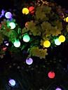 Outdoor Solar String Light Solar LED String Lights Matte Bulb Warm White Colorful White 8 Mode Outdoor Waterproof 7M 50LEDs Fairy Lights Christmas Wedding Holiday Decoration Lights Garden Light