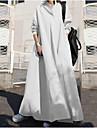 Women\'s Swing Dress Maxi long Dress Long Sleeve Solid Color Fall Spring Casual / Daily Loose 2021 S M L XL XXL XXXL 4XL 5XL / Cotton / Cotton