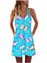Women\'s Shift Dress Short Mini Dress Sleeveless Butterfly Tie Dye Animal Print Spring Summer Round Neck Casual Holiday 2021 S M L XL XXL XXXL
