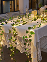 LED Solar String Light Outdoor Waterproof Solar Power 2M Led String Hanging Lights Artificial Outdoor Ivy Leaf Plants for Yard Fence Wall Hanging Wedding Decoration Warm White 8 Mode Lighting IP65