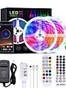 LED Strip Lights Bluetooth Music Sync 5M 10M 15M 20M Color Changing LED Strip 40 Keys Remote Sensitive Built in Mic App Controlled LED Lights 5050 RGB LED Light Strip APP Remote Mic 3 Button Switch