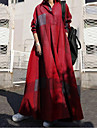 Women\'s Swing Dress Maxi long Dress Long Sleeve Solid Color Fall Spring Elegant & Luxurious Cotton 2021 S M L XL XXL XXXL 4XL 5XL