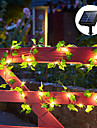 Outdoor Solar String Light LED Garden Light IP65 Waterproof Solar 2M Hanging Lights Artificial Outdoor Ivy Leaf Plants for Wedding Patio Outdoor Wall Hanging 8 Mode Lighting Decoration Warm White