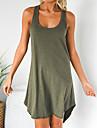Női Pólóruha Rövid mini ruha Ujjatlan Tömör szín Nyár Alkalmi Bő 2021 S M L XL
