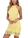 Women\'s A Line Dress Knee Length Dress White Yellow Wine Dark Blue Sleeveless Solid Color Spring Summer Casual / Daily 2021 S M L XL XXL XXXL