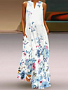 Women\'s A Line Dress Maxi long Dress Sleeveless Flower LOVE Lips Summer V Neck Chic & Modern Casual Loose 2021 S M L XL XXL XXXL 4XL 5XL