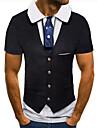 Men\'s Golf Shirt Tennis Shirt 3D Print 3D Graphic Prints Button-Down Short Sleeve Street Tops Casual Fashion Cool Black / Sports