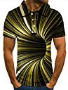 Pánské Golfová košile Tenisové tričko 3D tisk 3D Grafické tisky Podlouhlá Tlačítko dolů Krátký rukáv ulice Topy Na běžné nošení Módní Chladný Žlutá / Sport