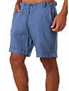 Homens Casual / esportivo Secagem Rapida Calcao Algodao Feriado Calcas Tecido Curto Esportivo Com Cordao Ziper Bolsos Azul Caqui Verde Branco