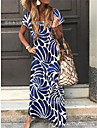 Women\'s Swing Dress Maxi long Dress Short Sleeve Print Spring Summer Elegant & Luxurious Loose 2021 S M L XL XXL