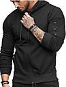 Men\'s Full Zip Hoodie Solid Color Zipper Pocket Hooded Daily Fitness Sportswear Basic Hoodies Sweatshirts  Long Sleeve Wine Army Green Black
