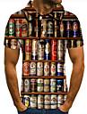 Pánské Golfová košile Tenisové tričko 3D tisk Grafické tisky Pivo Tlačítko dolů Krátký rukáv ulice Topy Na běžné nošení Módní Chladný Duhová / Sport