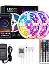10M 30M RGB LED Strip Lights Bluetooth Smart Phone Controlled 20M 40M LED Light Strip 5050 LED Lights Sync to Music and 44 Keys Remote Controller for Bedroom Home TV Back Lights