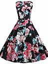 Women\'s Loose Short Mini Dress Blue Purple Blushing Pink Green Black Red Sleeveless Pattern Spring & Summer Casual / Daily 2021 S M L XL XXL