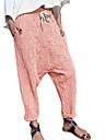 Dámské Základní Měkké Pohodlné Denní Domů Kalhoty chinos Kalhoty Bez vzoru Plná délka Kapsy Pružný design se stahovací šňůrkou Fialová Světlá růžová Khaki Námořnická modř
