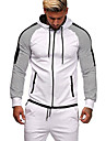 Men\'s Full Zip Hoodie Striped Zipper Hooded Daily Fitness Sportswear Basic Hoodies Sweatshirts  Long Sleeve Blue Army Green White