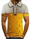 Pánské Golfová košile Tenisové tričko 3D tisk Grafické tisky Pivo Tlačítko dolů Krátký rukáv ulice Topy Na běžné nošení Módní Chladný Žlutá / Sport