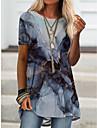 Women\'s T Shirt Dress Tee Dress Short Mini Dress Short Sleeve Color Block Spring Summer Casual / Daily 2021 S M L XL XXL XXXL