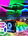 LED Strip Lights WIFI App Controlled Music Sync 2x7.5M 50ft Colour Changing RGB Strip Lights with 24-Key Remote Sensitive Built-in Mic 5050 RGB LED Light Kit DC12V