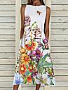 Women\'s A Line Dress Midi Dress 1 2 3 4 5 6 7 8 9 Sleeveless Floral Pocket Cold Shoulder Print Spring Summer Round Neck Casual Vintage Going out 2021 S M L XL XXL / Cotton / Cotton