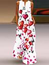 Women\'s A Line Dress Maxi long Dress Sleeveless Butterfly Flower LOVE Summer V Neck Casual / Daily Loose 2021 S M L XL XXL XXXL 4XL 5XL