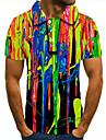Pánské Golfová košile Tenisové tričko 3D tisk Spád Grafické tisky Tlačítko dolů Krátký rukáv ulice Topy Na běžné nošení Módní Chladný Duhová / Sport
