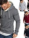 Men\'s Pullover Hoodie Sweatshirt Solid Color Patchwork Front Pocket Hooded Daily Fitness Basic Thin fleece Hoodies Sweatshirts  Long Sleeve Gray Black Dark Gray