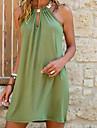 Women\'s Shift Dress Short Mini Dress Blue Green Sleeveless Summer Round Neck Hot Sexy vacation dresses 2021 S M L XL XXL 3XL