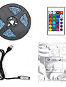 LED Light Strips 5m Flexible LED RGB Strip Lights Remote Controls 300 LEDs 2835 SMD 8mm 24Keys Remote Controller USB with Mini Controller 1pc 1 set RGB Christmas New Year\'s USB Party Decorative USB