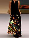 Women\'s Swing Dress Maxi long Dress Blue Green Royal Blue Rainbow Black Sleeveless Floral Animal Summer V Neck Elegant Casual 2021 S M L XL XXL 3XL 4XL 5XL