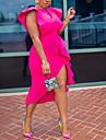 Women\'s Sheath Dress Midi Dress Yellow White Rose Red Sleeveless Solid Color Split Ruffle Patchwork Fall Spring V Neck Elegant Formal 2021 S M L XL XXL XXXL