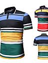 رجالي قميص الجولف ألوان متناوبة كم قصير مناسب للبس اليومي قمم بسيط موضة مريح أسود أزرق البحرية / الرياضة / الصيف