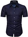 Hombre Camisa Otras impresiones Grafico Manga Corta Casual Tops Casual Azul Marino / Verano