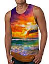 Hombre Camiseta sin mangas Camisetas Interiores Impresion 3D Estampados Playa Estampado Sin Mangas Diario Tops Casual De Diseno Grande y alto Naranja