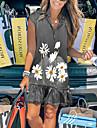 2021 amazon wish cross-border independent station new women\'s denim daisy print loose v-neck dress