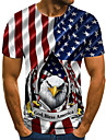 Men\'s Unisex Tee T shirt Shirt 3D Print Graphic Prints Eagle Flag Plus Size Print Short Sleeve Casual Tops Basic Fashion Designer Big and Tall Round Neck Red