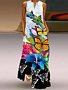 Women\'s Swing Dress Maxi long Dress Blue Yellow Green Rainbow White Black Sleeveless Floral Animal Summer V Neck Elegant Casual 2021 S M L XL XXL 3XL 4XL 5XL