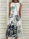 Women\'s A Line Dress Midi Dress Green Sleeveless Pattern Summer Casual 2021 S M L XL XXL XXXL