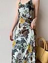 v-neck printed suspender skirt women\'s summer 2021 new style french retro slim slimming dress