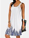 Women\'s T Shirt Dress Tee Dress Knee Length Dress Light Blue printing Lingge Light Purple Gray White Black Short Sleeve Print Spring Summer Casual 2021 S M L XL 2XL 3XL 4XL 5XL